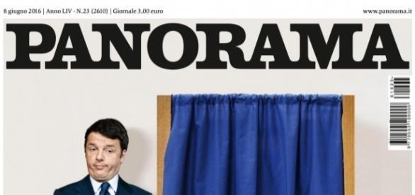 Una vecchia copertina di Panorama del 2016 dedicata a Matteo Renzi