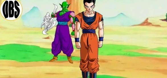 gohan se enfrenta a Piccolo en un entrenamiento