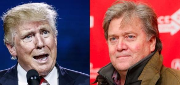Steve Bannon and Donald Trump. Image via TheForward.com