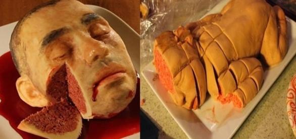 Dois bolos bem diferentes e assustadores