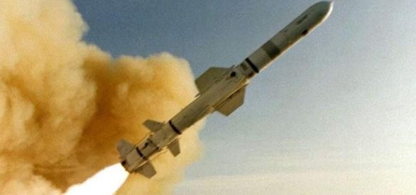 Tomahawk missile launch. Image via youtube.com.