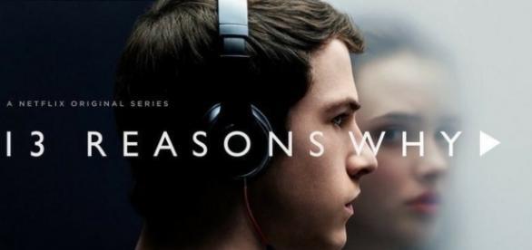 """Foto da série """"13 Reasons Why"""" com Clay e Hannah"""