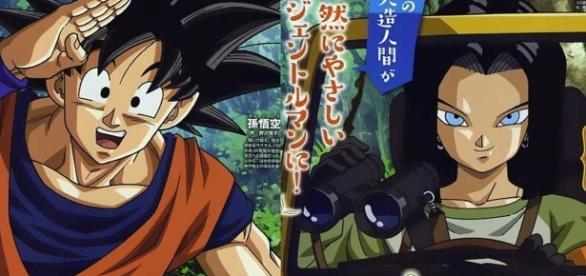 La aventura de Goku y el androide 17 comienza.
