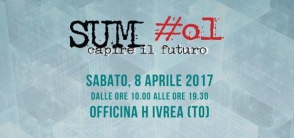 La locandina ufficiale di Sum #01, la convention del M5S organizzata ad Ivrea