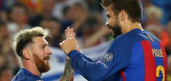 Messi e Piqué jogam juntos há muitos anos
