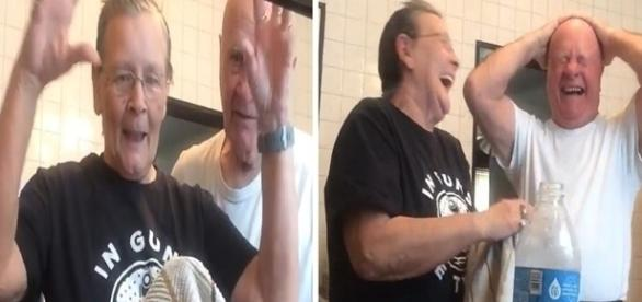 Reação dele foi a melhor. Vídeo viralizou.