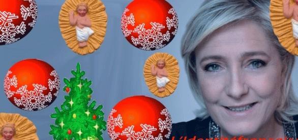 Marine Le Pen veut partout des crèches, des santons, des sapins et boules de Noël. Pour favoriser les importations ?