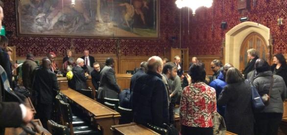 Networking after the end of the UK Houses of Parliament expert panel discussion