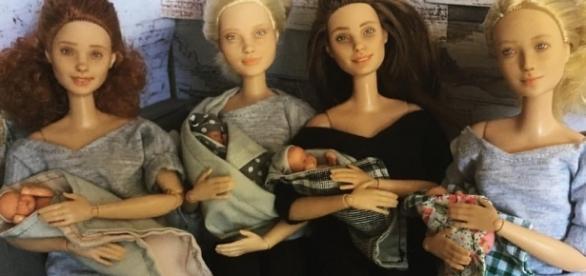 Bonecas de todas as raças que representam o dia a dia de ser mãe