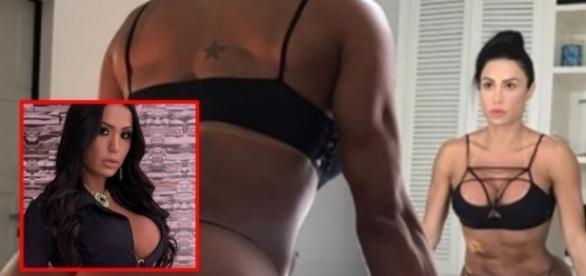 Pose de Gracyanne chama atenção e fãs suspeitam uso de Photoshop