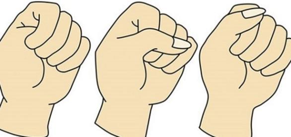 Traços da personalidade que se revelam na forma de cerrar o punho