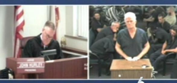Richard Henry Patterson está se defendendo em tribunal