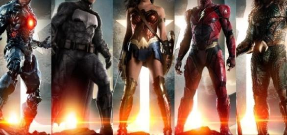The Justice League, minus two members, assembled on the big screen for the first time (via Gizmodo)