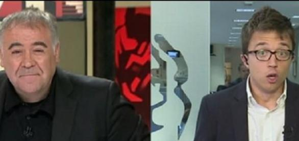 Antonio García Ferreras e Íñigo Errejón.