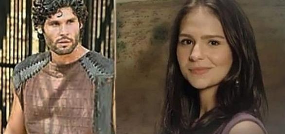 Asher e Naomi da novela bíblica 'O Rico e Lázaro'