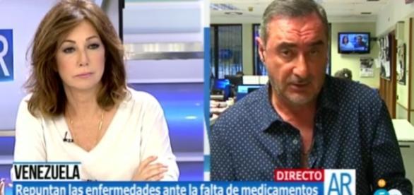 Carlos Herrera en el programa de Ana Rosa