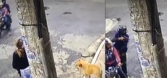 Mulher indefesa foi atacada pelos assaltantes