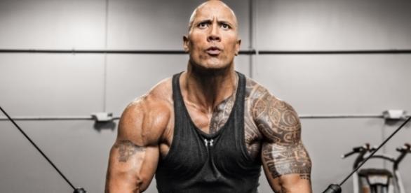 """Wrestler, Schauspieler und bald vielleicht auch US-Präsident? Dwayne """"The Rock"""" Johnson."""