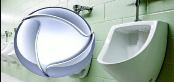 Azaração rola solta em banheiro da Record - Foto/RD1