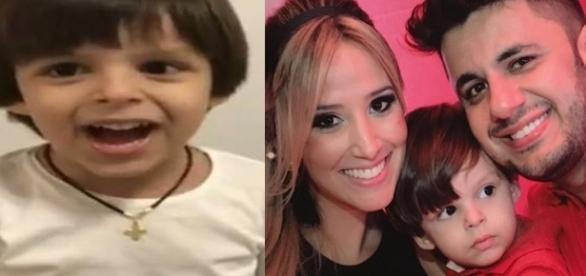 Bernado canta sucessos do pai, Cristiano Araújo, e emociona os internautas