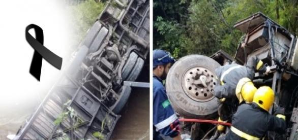 Ônibus tomba e deixa dois mortos - Google