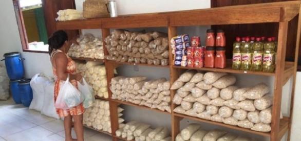 Em supermercado sustentável quilo do material reciclavel vale R$ 0,50 em compras - Divulgação/TrocTroc