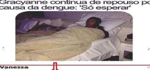 Gracyanne Barbosa é trollada na internet após pegar dengue no Rio de Janeiro