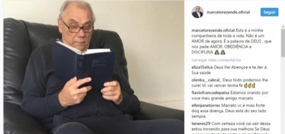 Marcelo Rezende está com câncer (Foto reprodução: Instagram)