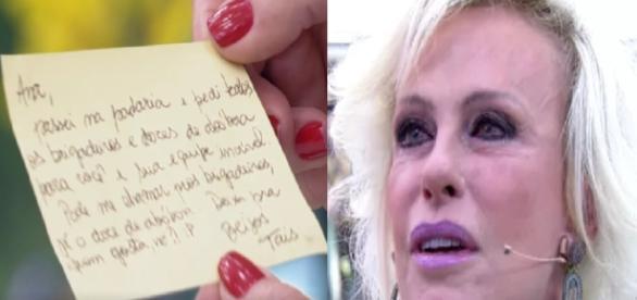 Ana Maria Braga recebe desculpas (Foto: Imagem/TV Globo)