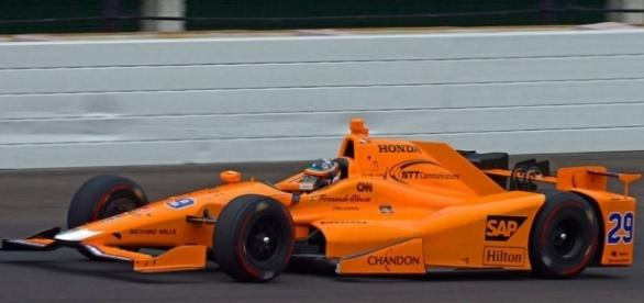Fernando Alonso preparing for Indy 500