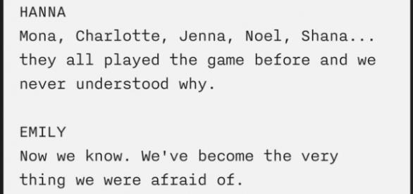 """Parte do guião da série, """"tornámo-nos naquilo que mais temíamos"""""""