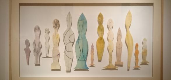 13 estudios (muñecas) s/f. Gouache y Lápiz / papel recortado. Colec. Fondation Arp, France.