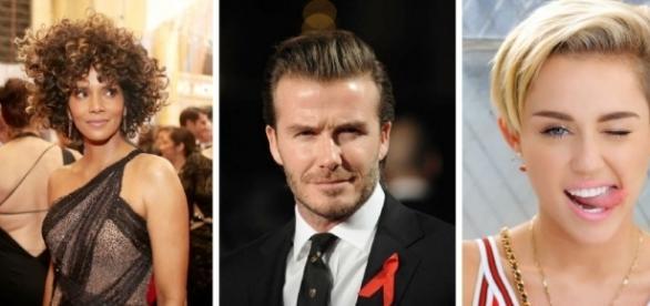 Halle Berry, David Beckham e Miley Cyrus
