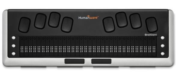 Consola de braille Brailliant BI 32 de HumanWare - Apple (ES) - apple.com