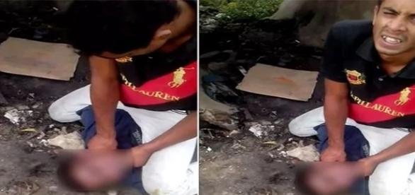Vídeo de estrangulamento foi divulgado nas redes sociais