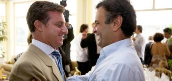 Aécio Neves e Luciano Huck não são mais amigos na internet - Google