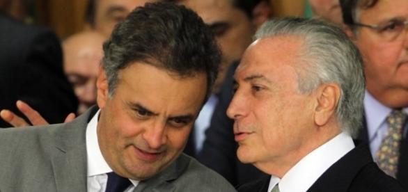 Aécio Neves e Michel Temer são notícia na imprensa internacional