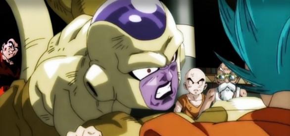 FanArt de Golden Freezer traicionando a Goku en el Torneo del Poder