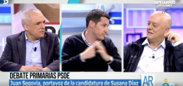 Los tres representantes de los candidatos