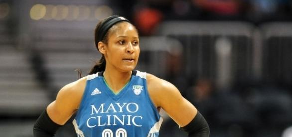 Minnesota Lynx star Maya Moore led her team to victory with 16 points and 11 rebounds. [Image via Blasting News image library/gwinnettdailypost.com]