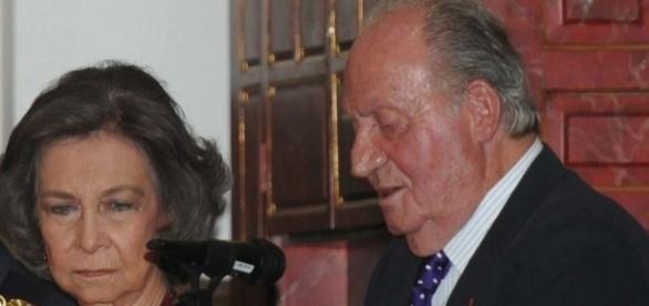 Don Juan Carlos y Doña Sofía públicamente