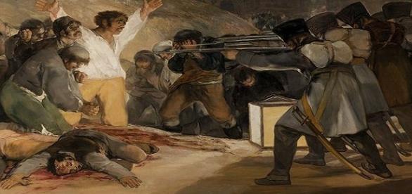 """""""Fusilamientos del 3 de mayo"""", obra de Francisco de Goya"""