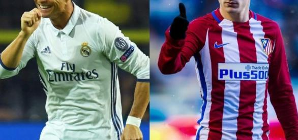 Ronaldo (Real Madrid) Griezmann (Atlético de Madrid).