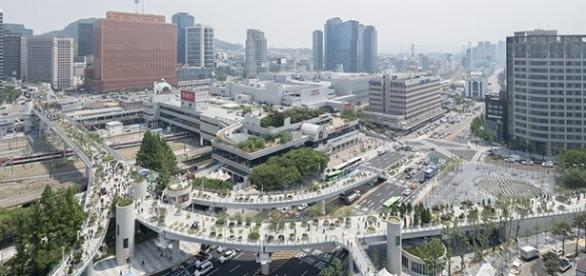 Seoullo 7017, lo Skygarden sopraelevato di Seoul. Progetto diurno.