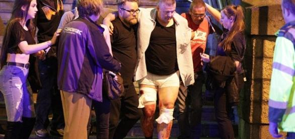 "19 people dead and 50 wounded at Manchester Arena Concert Photo via Daily Mail U.K. on Twitter: ""Several people killed and many ... - twitter.com"