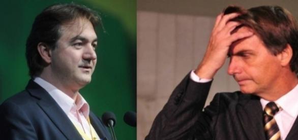 À esquerda, o empresário Joesley Batista, da JBS. À direita, Jair Bolsonaro, deputado federal e pré candidato às eleições presidenciais de 2018