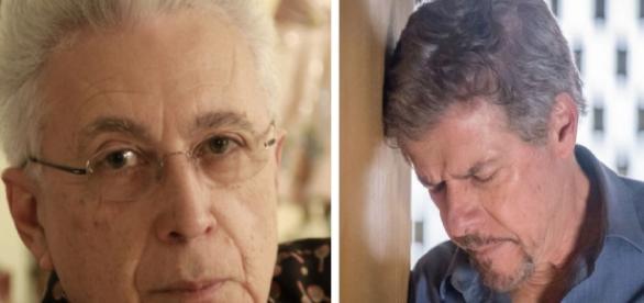 Aguinaldo Silva (à esqueda) defende o ator José Mayer, da Globo
