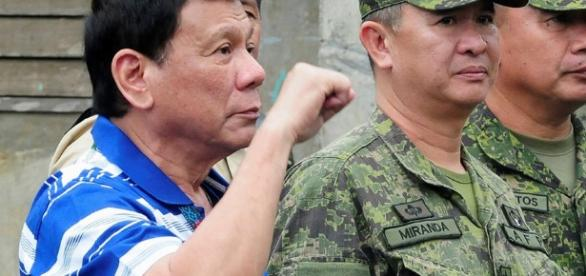 Duterte declared martial law in Mindanao today. Photo via ABS-CBN News - abs-cbn.com