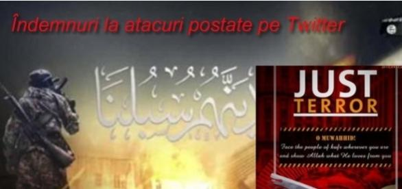 """Fanaticii ISIS au postat pe Twitter îndemnuri la atacuri sinucigașe adresate """"lupilor singuratici"""" - Foto: Twitter"""