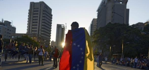 Marcha contra el oficialismo en Venezuela